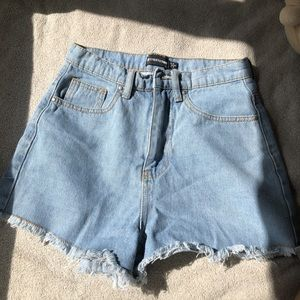 prettylittlethings jean shorts